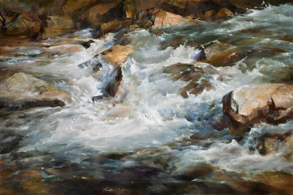 """River Series # 8"" original fine art by Kelvin Lei"