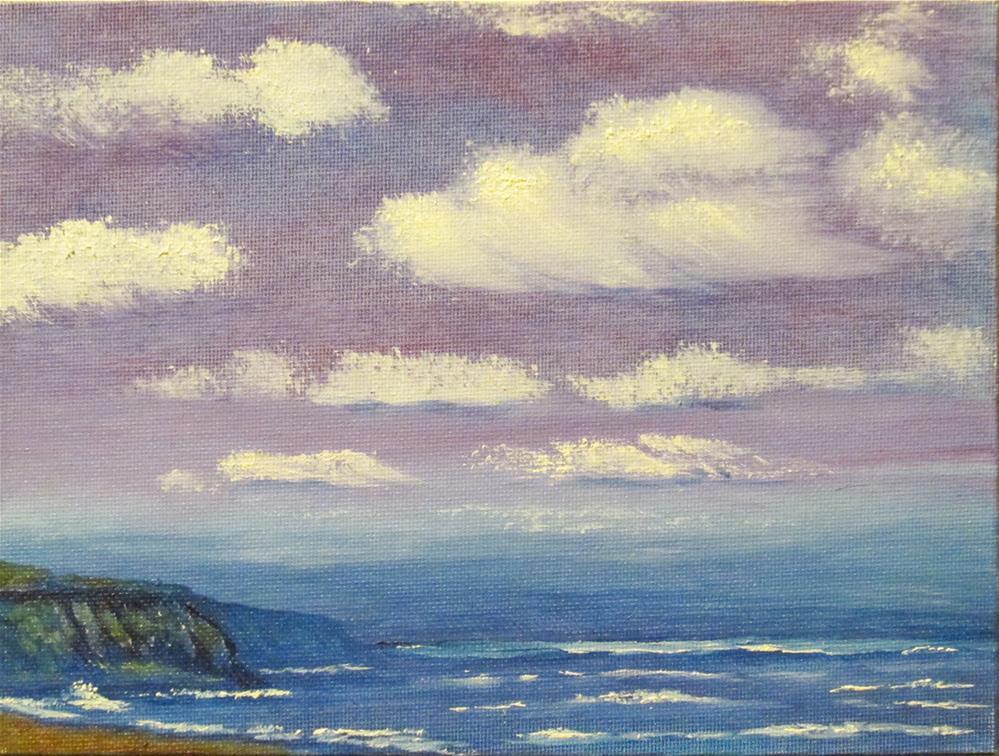 """Seascape-05"" original fine art by Mary Sylvia Hines"