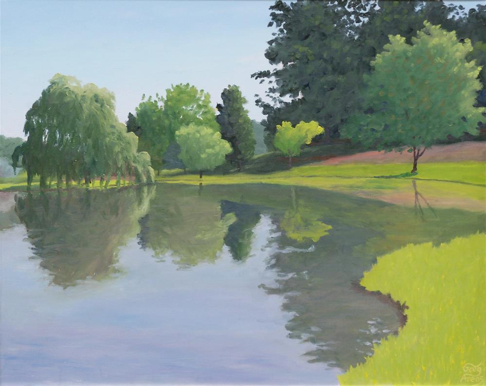 """Shelton's Pond"" original fine art by Greg Arens"