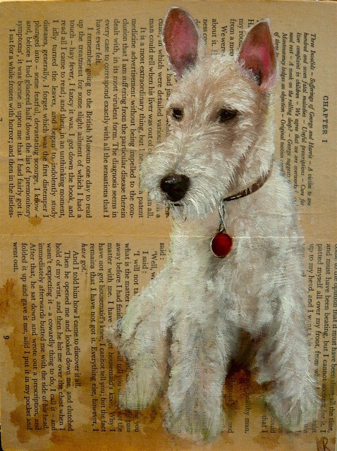 """Montmorency (Dogs of Literature No 2)"" original fine art by Karen Robinson"