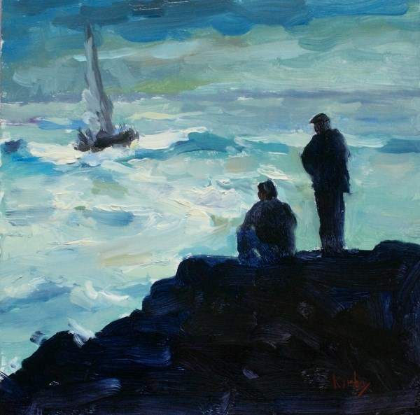 """Weathering the Storm"" original fine art by Randall Cogburn"