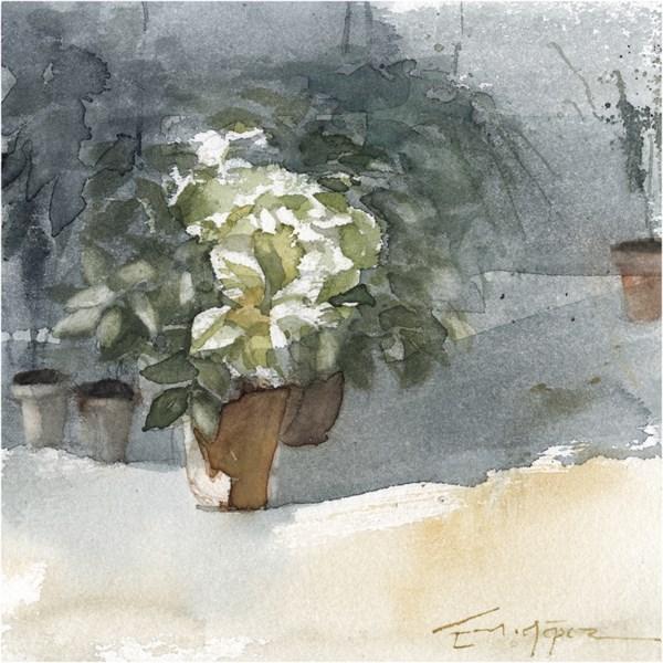 """patio 111"" original fine art by Emilio López"