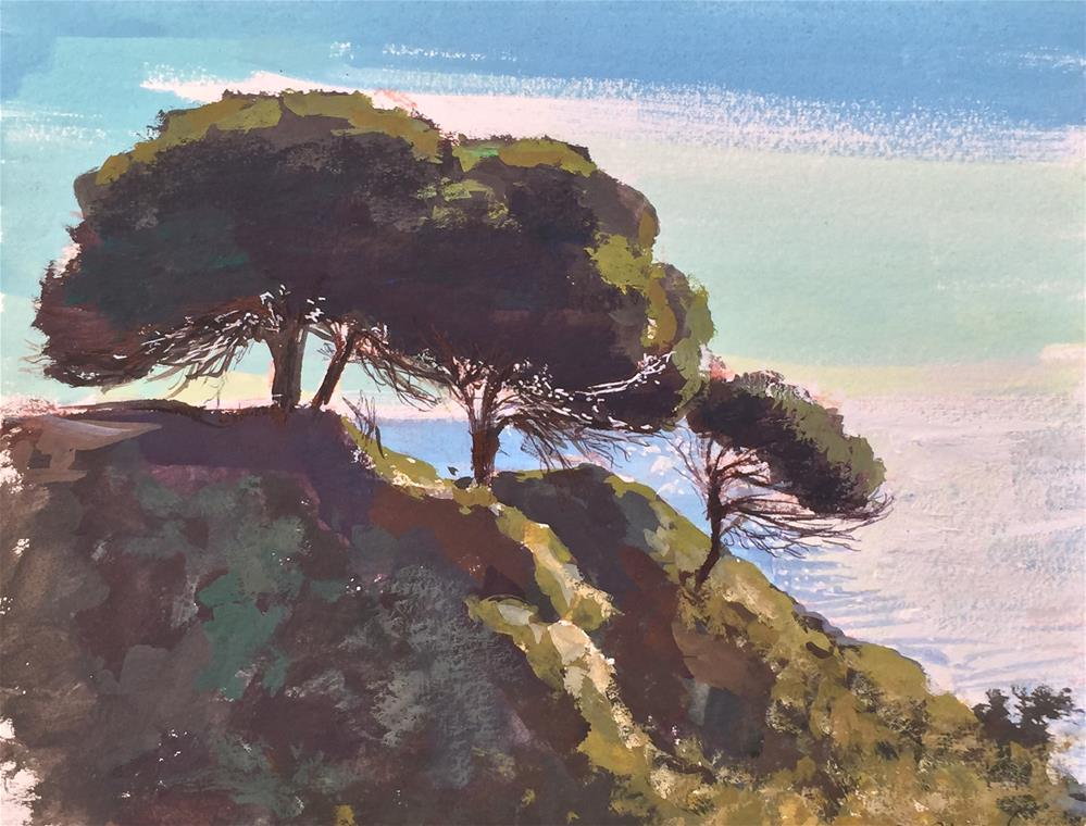 """Albufeira, Portugal-landscape"" original fine art by Adebanji Alade"