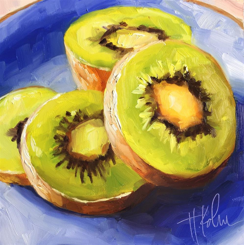 """Kiwi"" original fine art by Hallie Kohn"