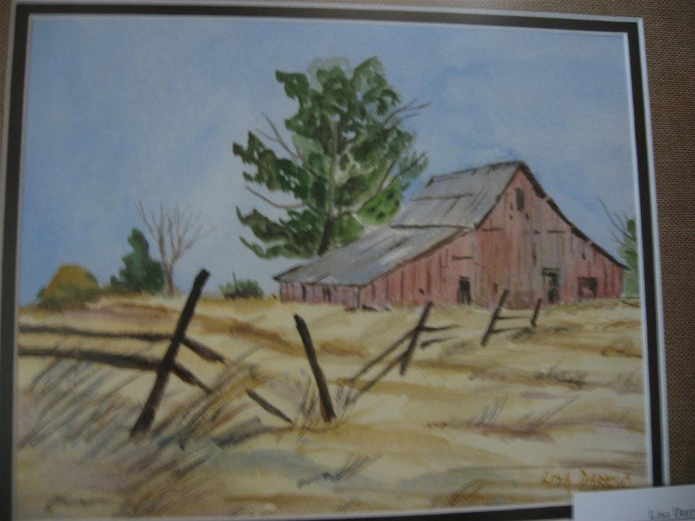 """SUMMER BARN"" original fine art by Lisa Darrow"