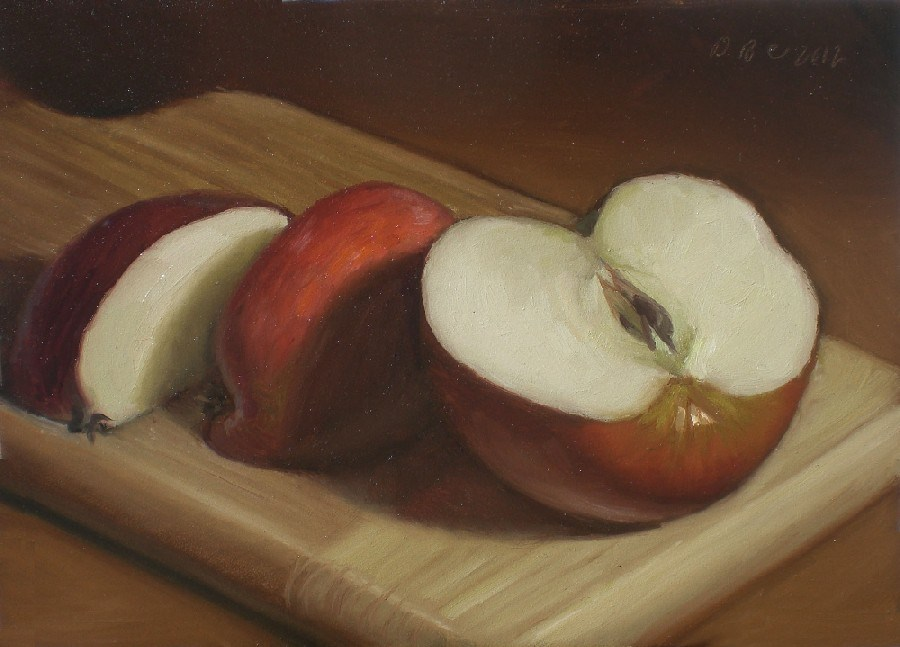 """An Apple a Day"" original fine art by Debra Becks Cooper"