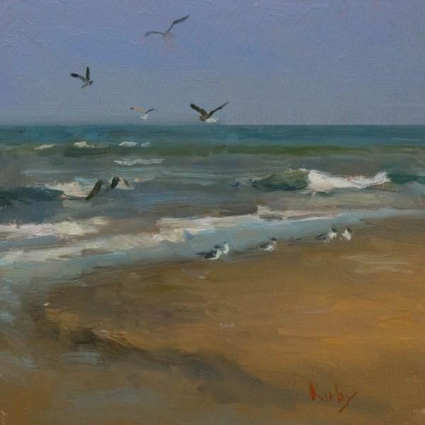 """San Luis Pass, Gulf Side"" original fine art by Randall Cogburn"