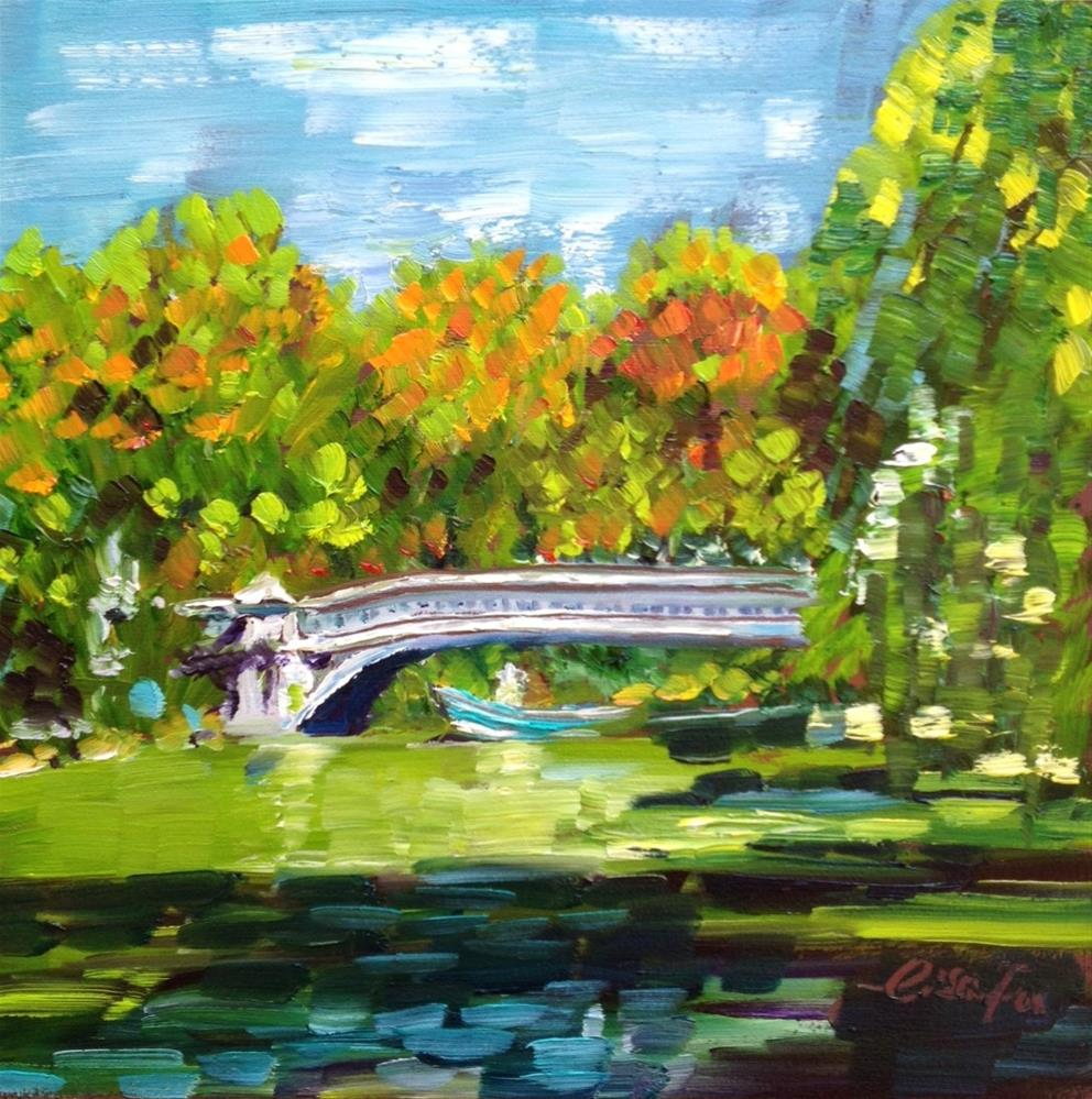 """Bow Bridge in Central park, NYC"" original fine art by Lisa Fu"
