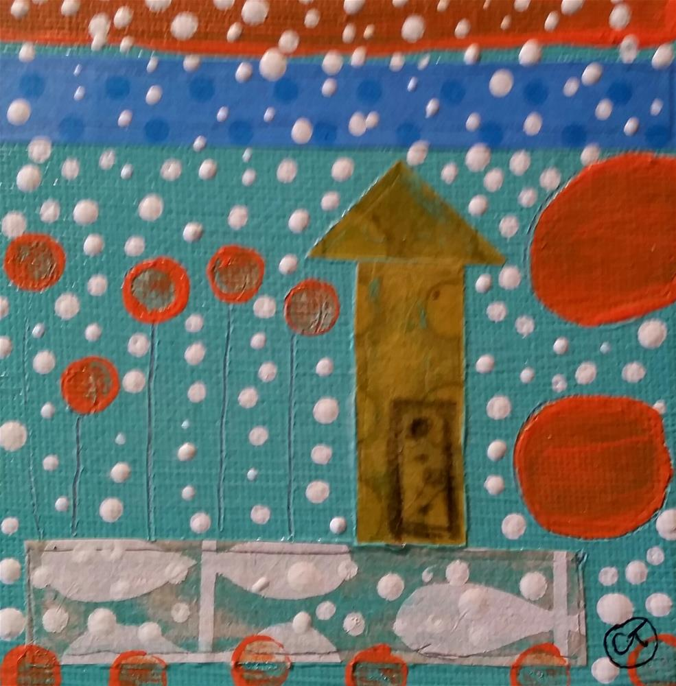 """Polka Dots 9 House # 150"" original fine art by Christy Tremblay"