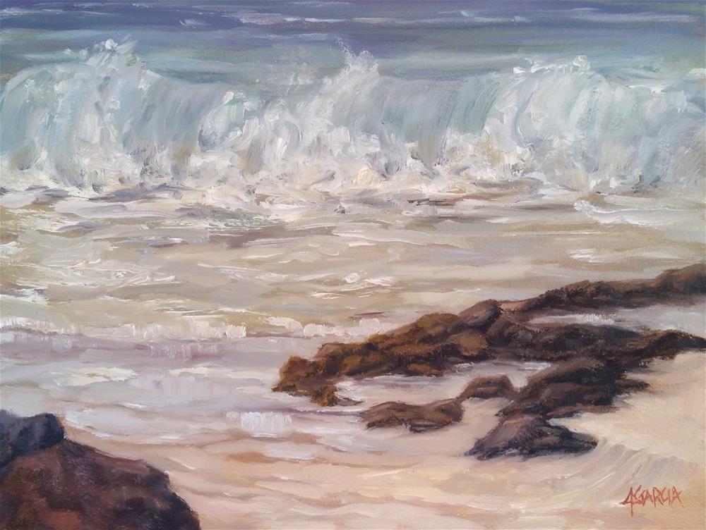 """""""Wave at White Sands"""" original fine art by Jeannie Garcia"""