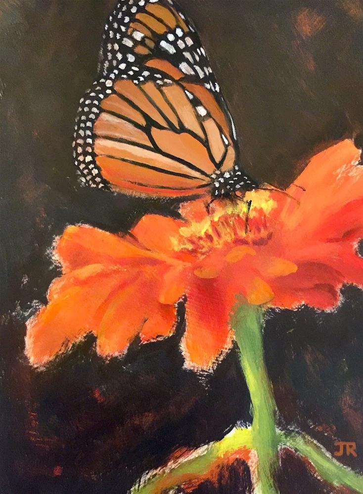 """Sunshine, Freedom & A Little Flower"" original fine art by June Rollins"