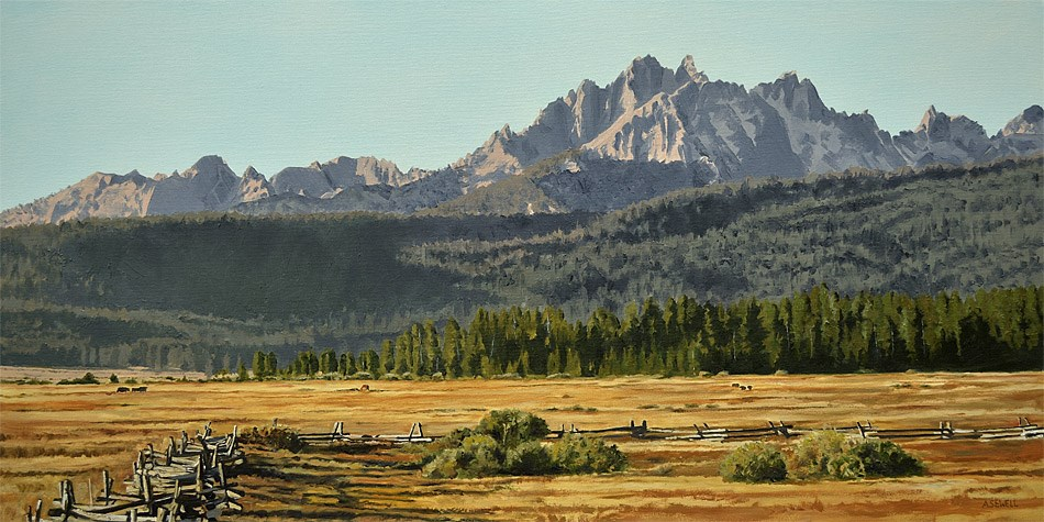 """Sawtooth Morning Shadows"" original fine art by Andy Sewell"