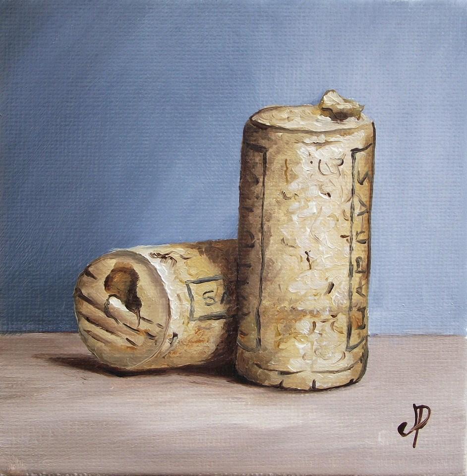 """Corks!"" original fine art by Jane Palmer"