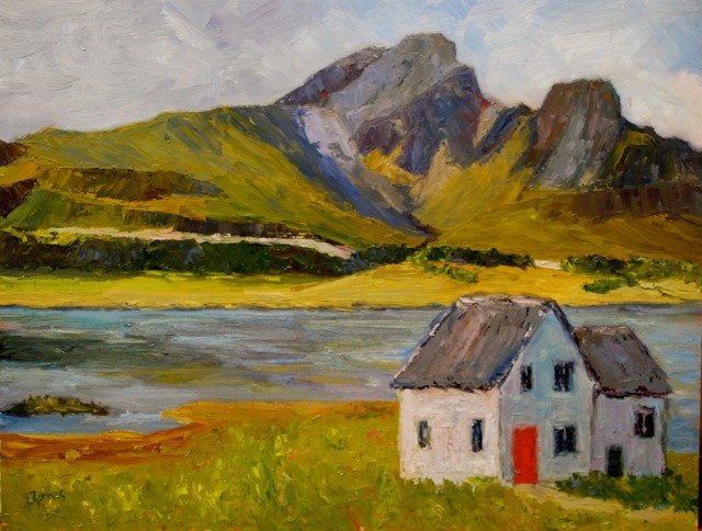 """On the Road to Elgol"" original fine art by Liz Zornes"