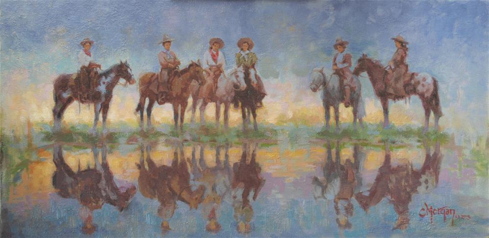 """Cowgirl Memories #4"" original fine art by Cecile W. Morgan"