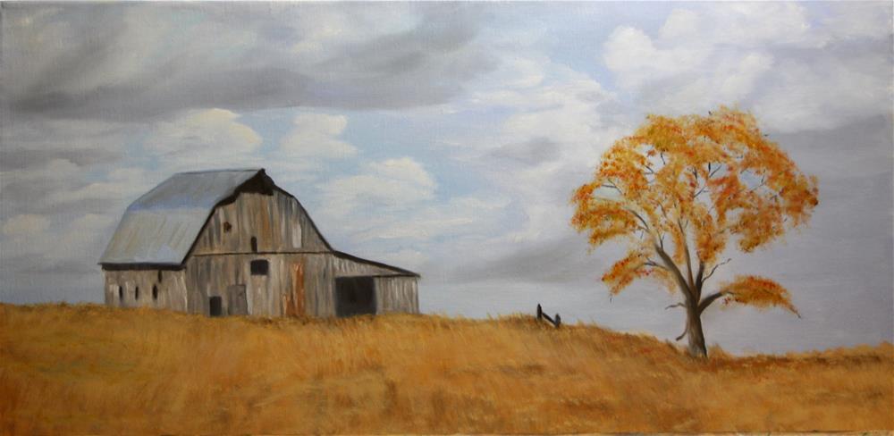 """Missouri Barn in Fall"" original fine art by Mary Datum"