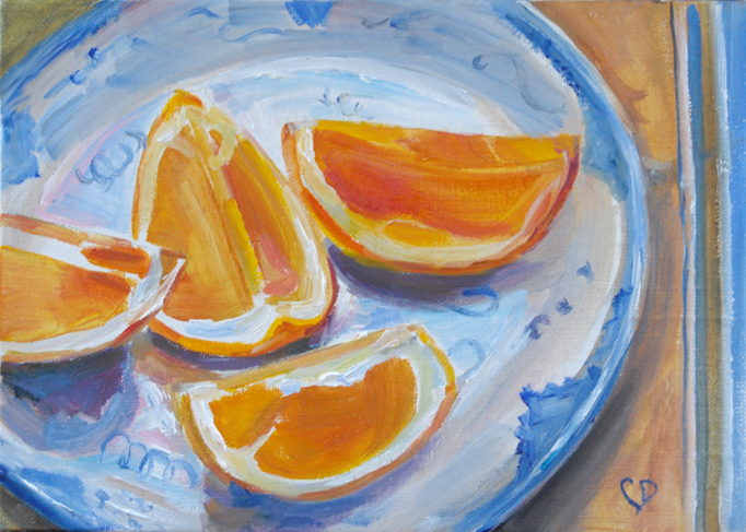 """Light Breakfast"" original fine art by Carol DeMumbrum"
