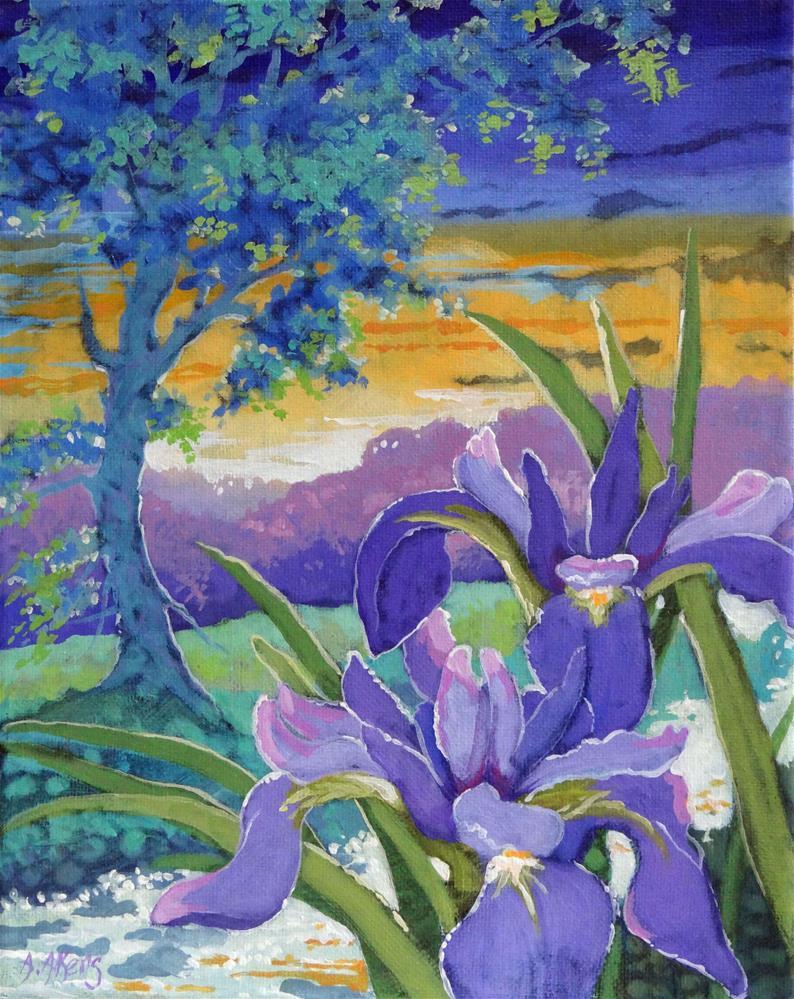 """An Iris Morning"" original fine art by Alida Akers"