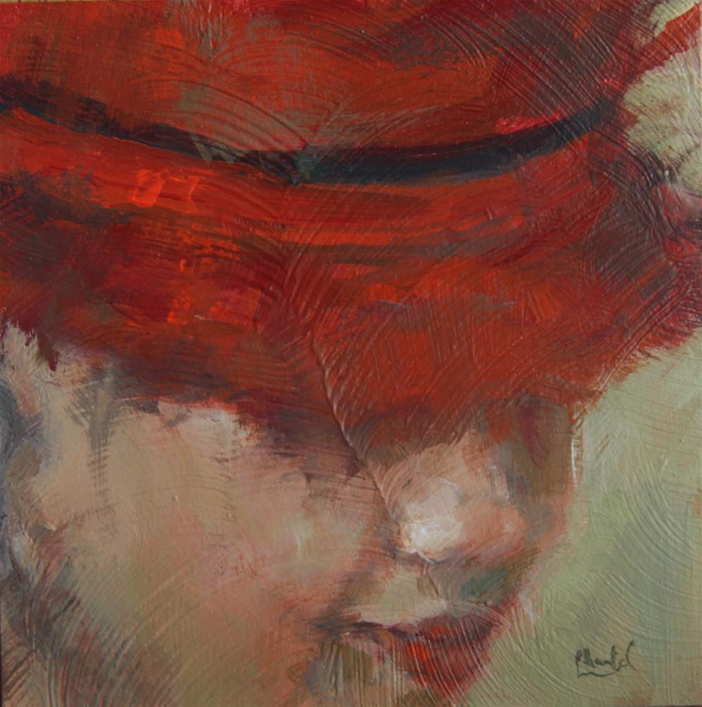 """Red"" original fine art by Chantel Barber"