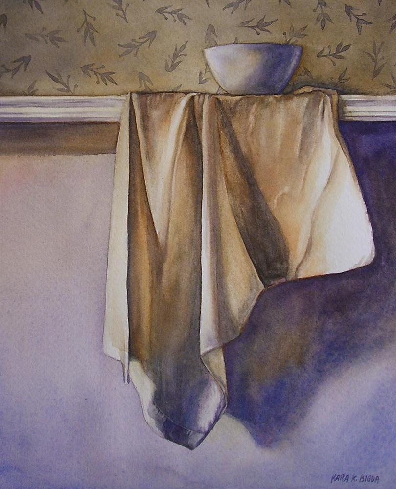 """Bowl with Draping Cloth"" original fine art by Kara K. Bigda"
