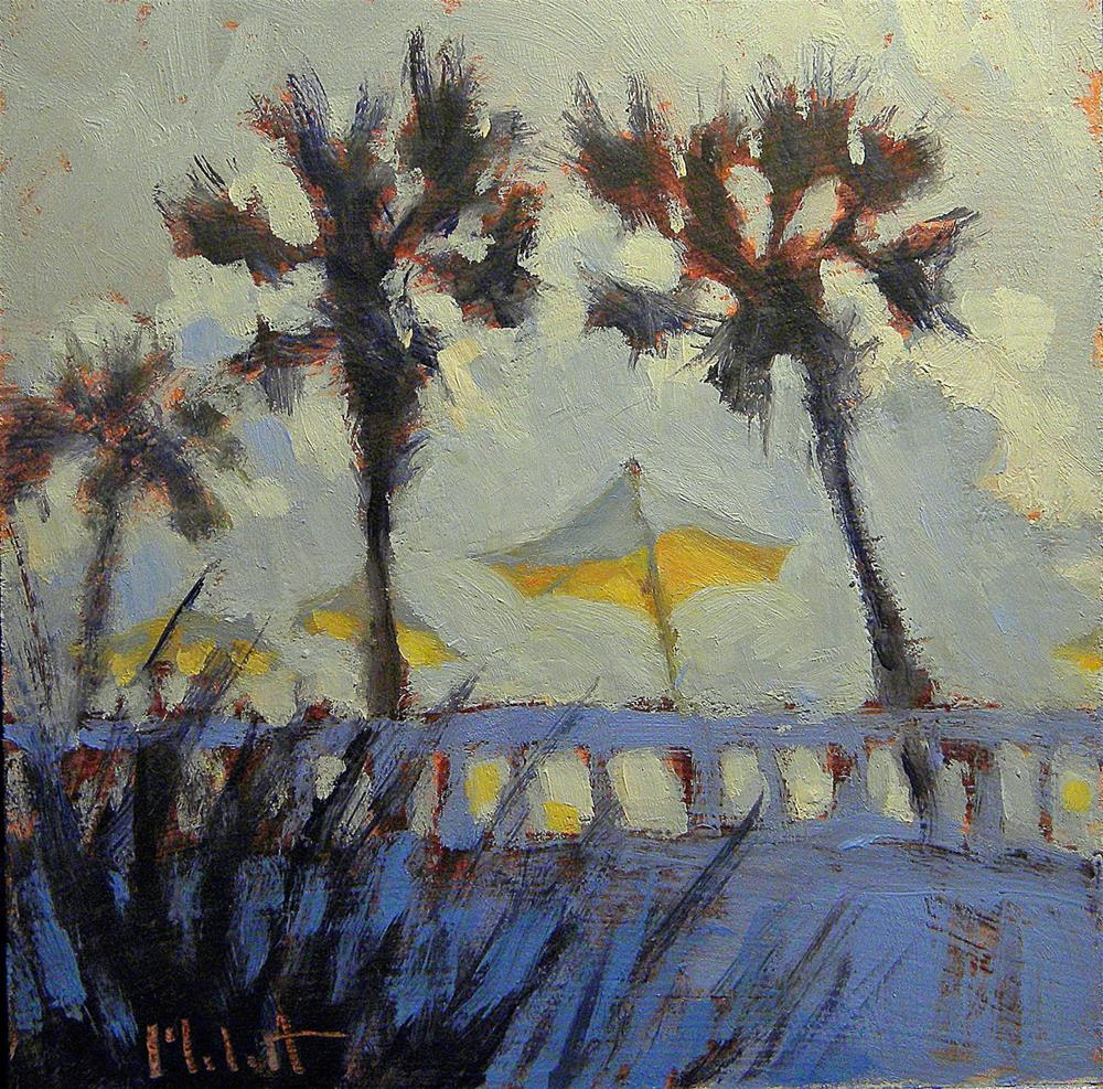 """Seawall Sunset Spring Break Beach Paintings Heidi Malott"" original fine art by Heidi Malott"