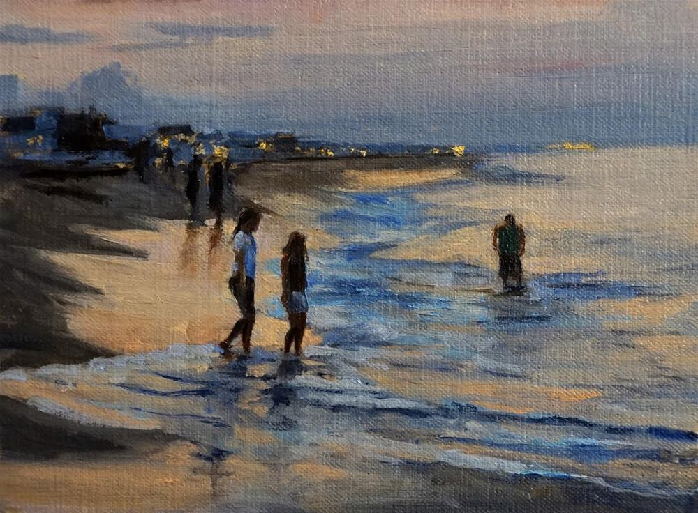"""Sunset in Sandbridge"" original fine art by Jonelle Summerfield"