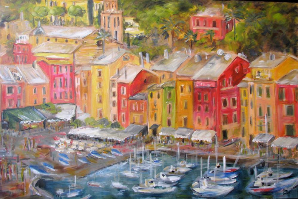 """""""Portofino"""" original fine art by Alina Vidulescu"""