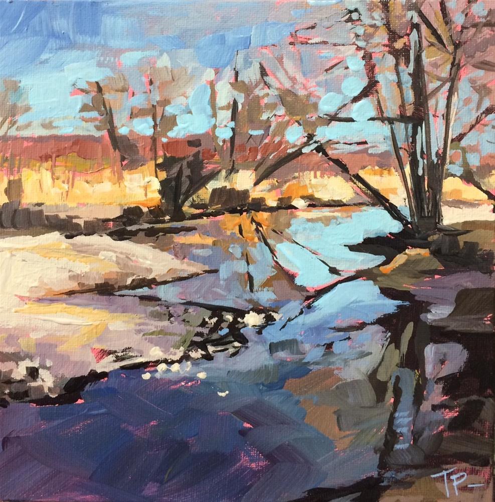 """Bare Creek"" original fine art by Teddi Parker"