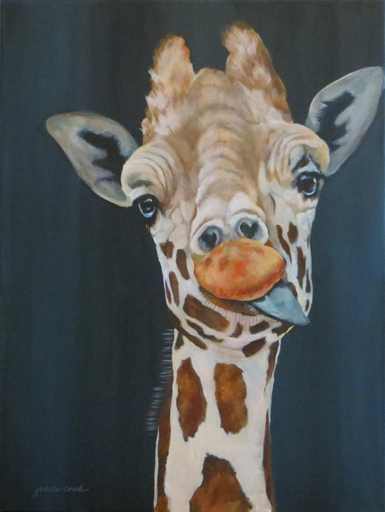 """Hello Darlin'"" original fine art by Janice Cook"