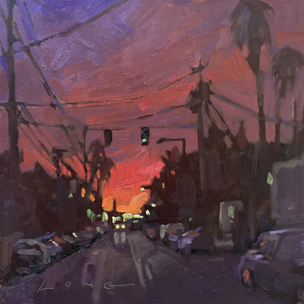 """Van Nuys"" original fine art by Chris Long"
