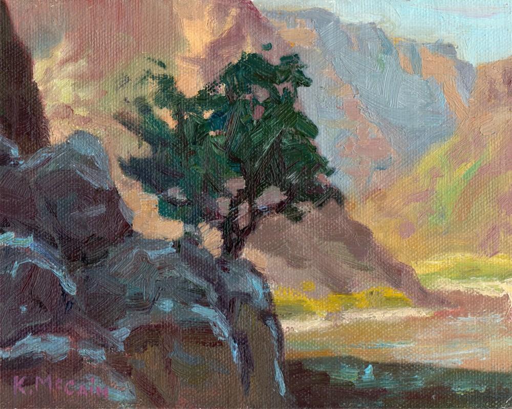 """Lone Sentry"" original fine art by K.R. McCain"