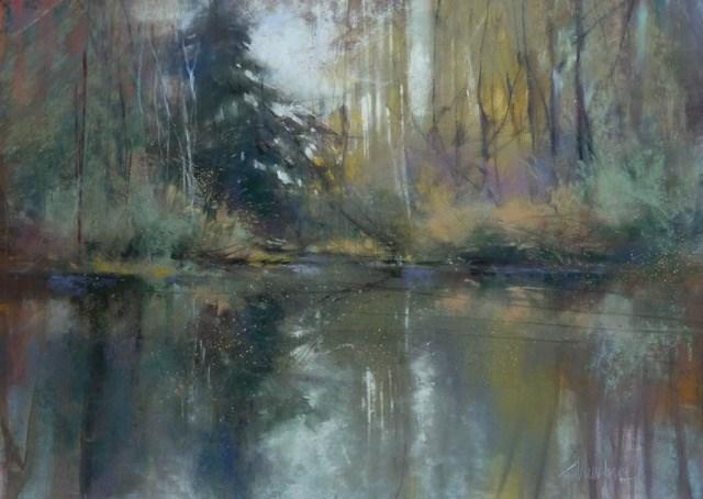 """""""Autumn Memory"""" original fine art by Barbara Benedetti Newton"""