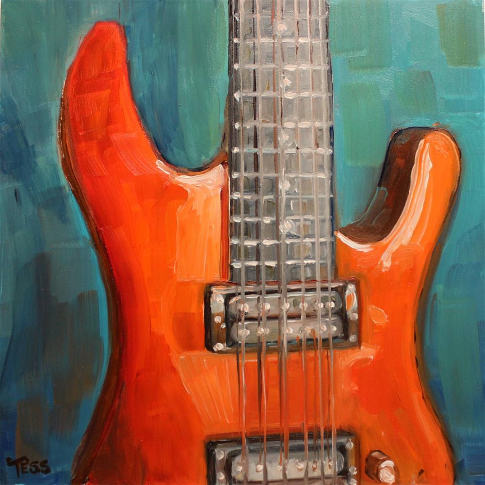 """""""Play Guitar- John Mellencamp"""" original fine art by Tess Lehman"""