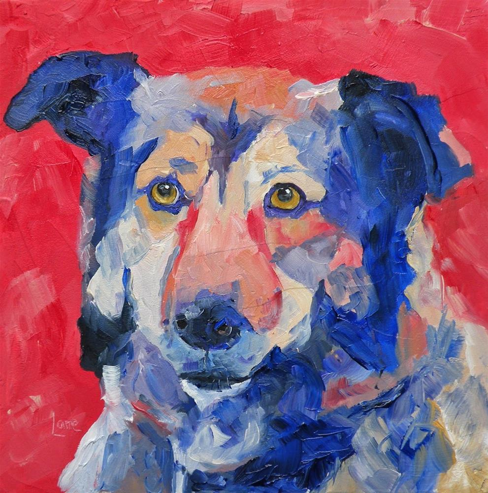 """RYDER 36/100 OF 100 PET PORTRAITS IN 100 DAYS © SAUNDRA LANE GALLOWAY"" original fine art by Saundra Lane Galloway"