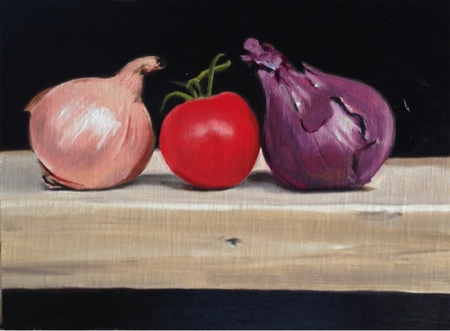 """Onions and Tomato"" original fine art by James Coates"
