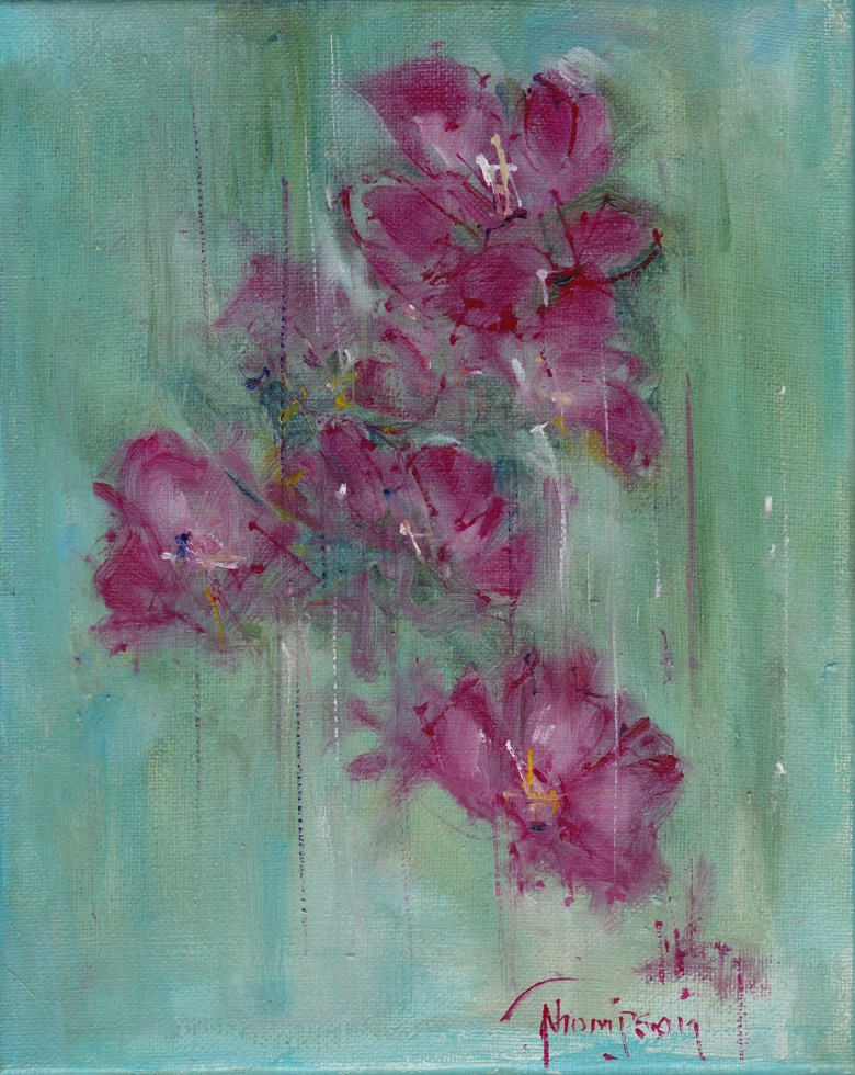 """Oleander Flowers"" original fine art by Norma Thompson"