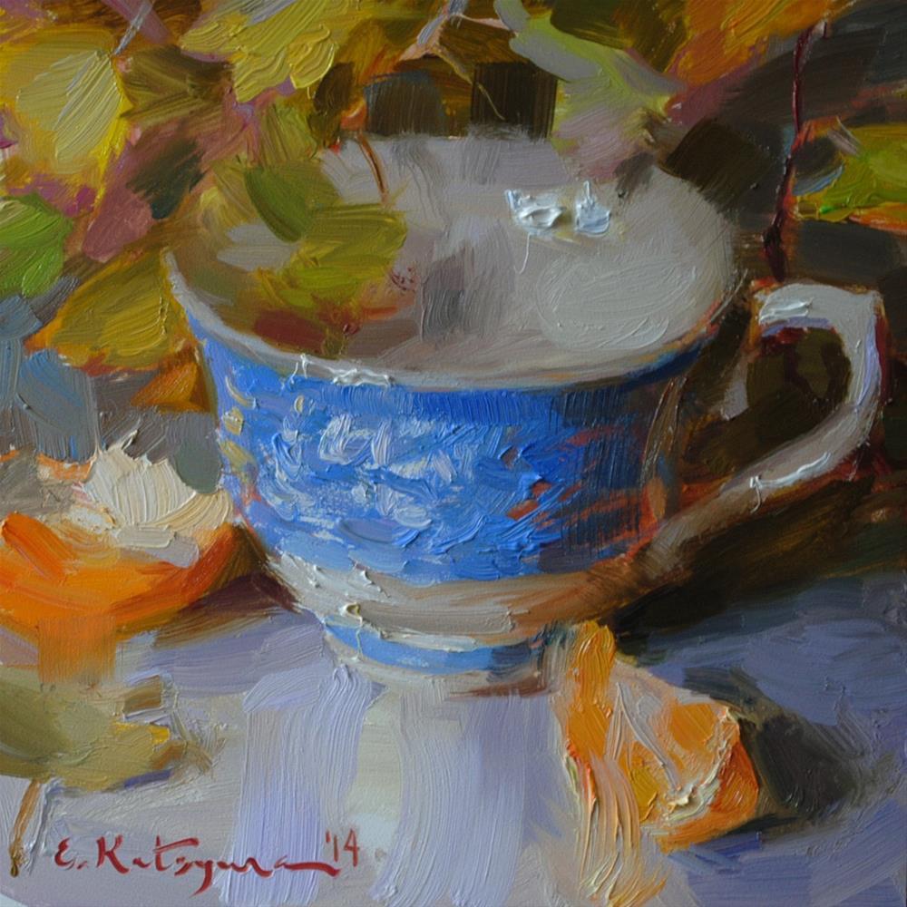 """""""Autumn Blue"""" original fine art by Elena Katsyura"""