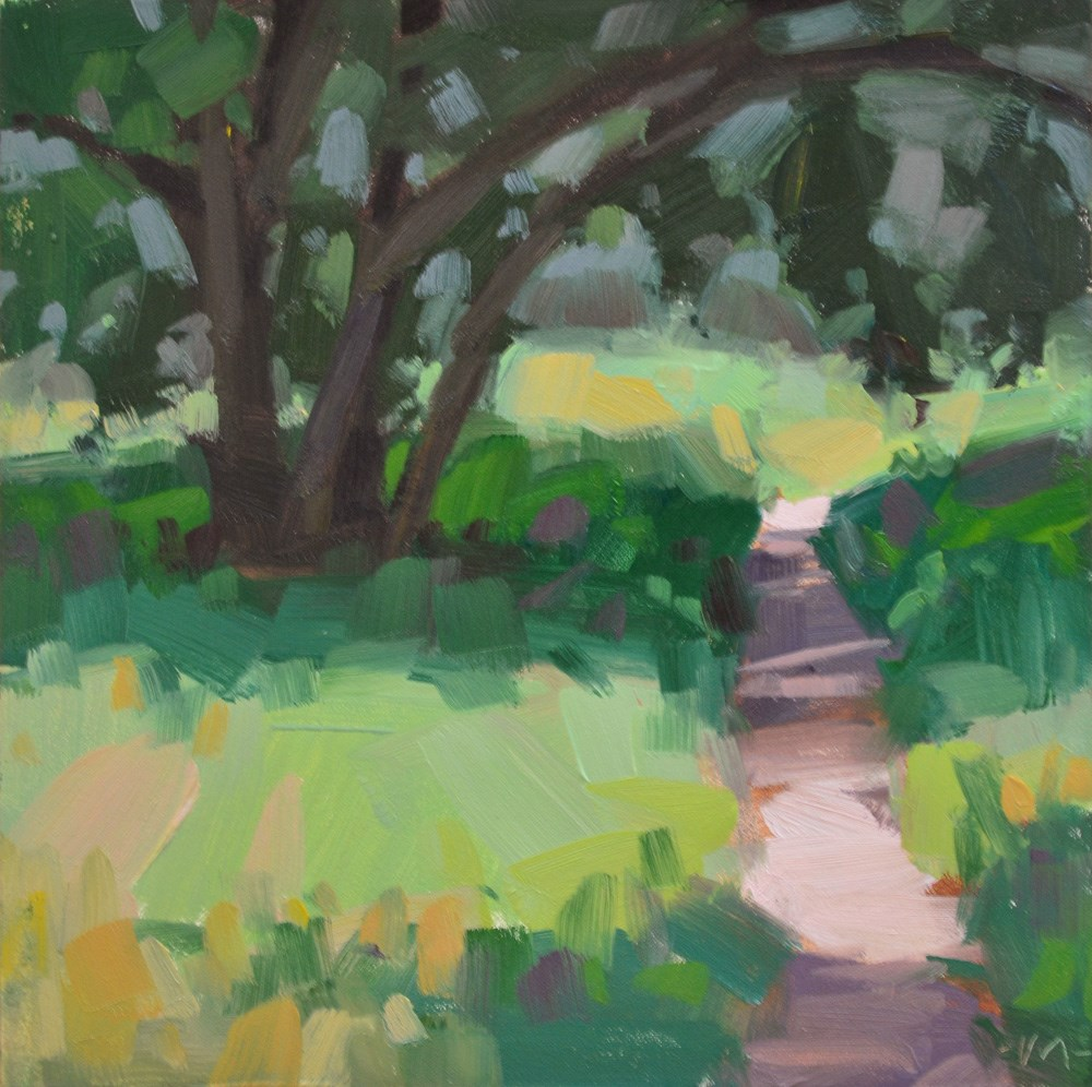 """Way Under Tree"" original fine art by Carol Marine"