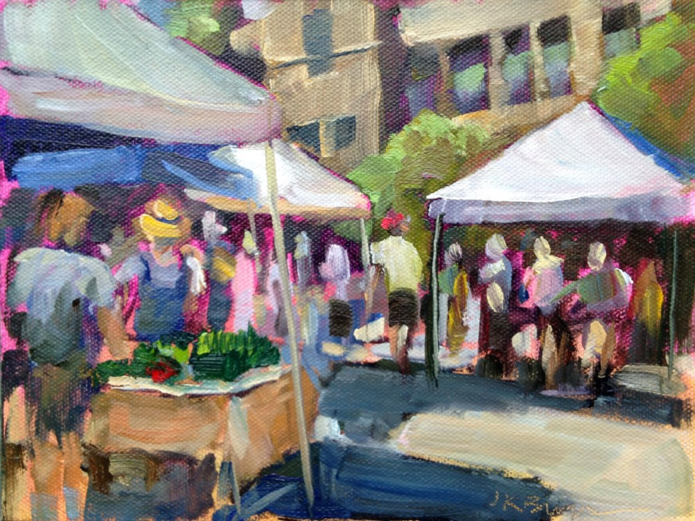 """Media Farmer's Market"" original fine art by Jeanne Bruneau"