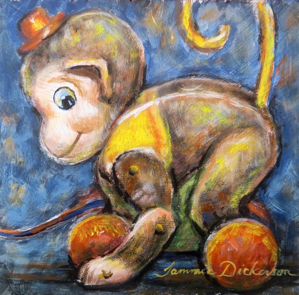 """""""Monkeying Around"""" original fine art by Tammie Dickerson"""