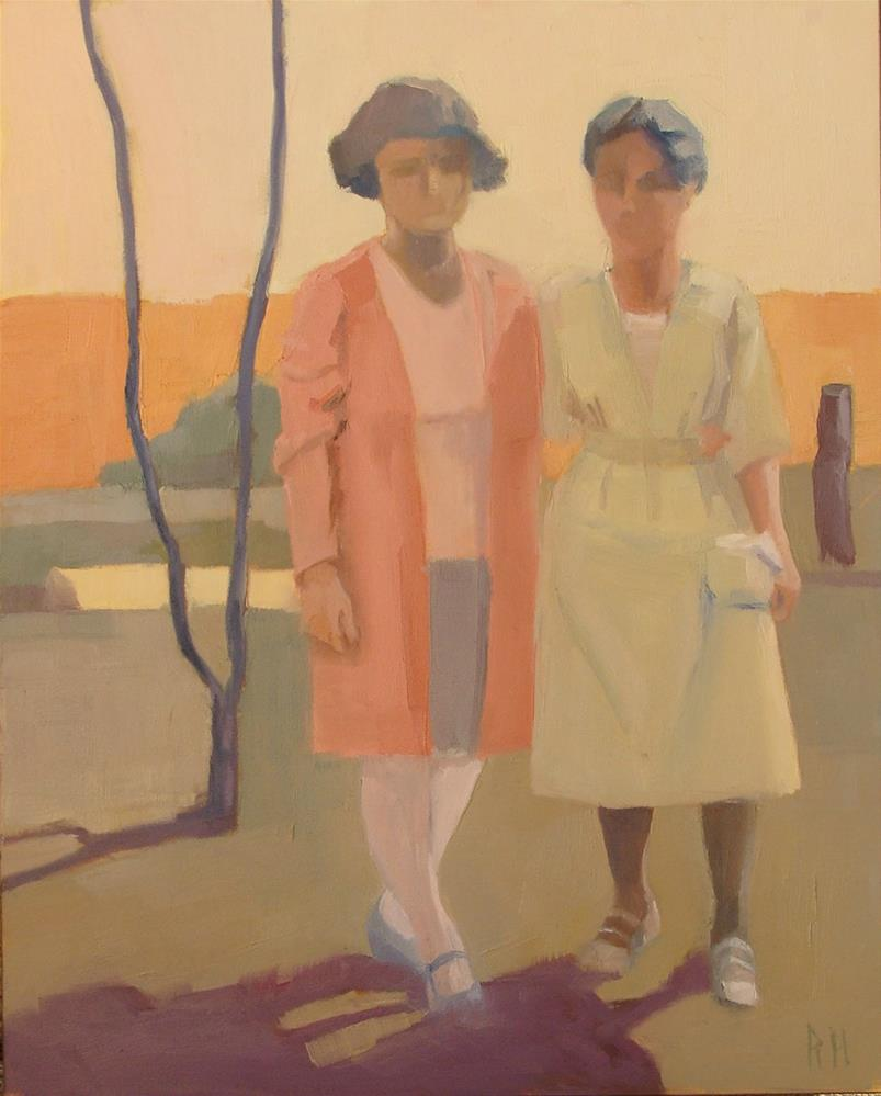 """Muriel and Mother, 1926"" original fine art by Rebecca Helton"