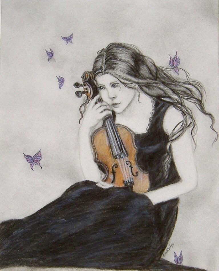 """""""Lamento"""" original fine art by Julie Rabischung"""
