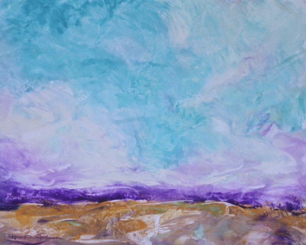 """Turbulent Terrain"" original fine art by Jana Johnson"