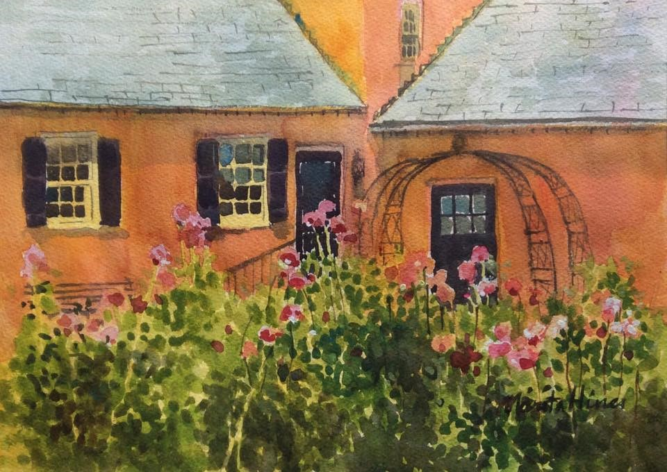 """Rose Garden"" original fine art by Marita Hines"