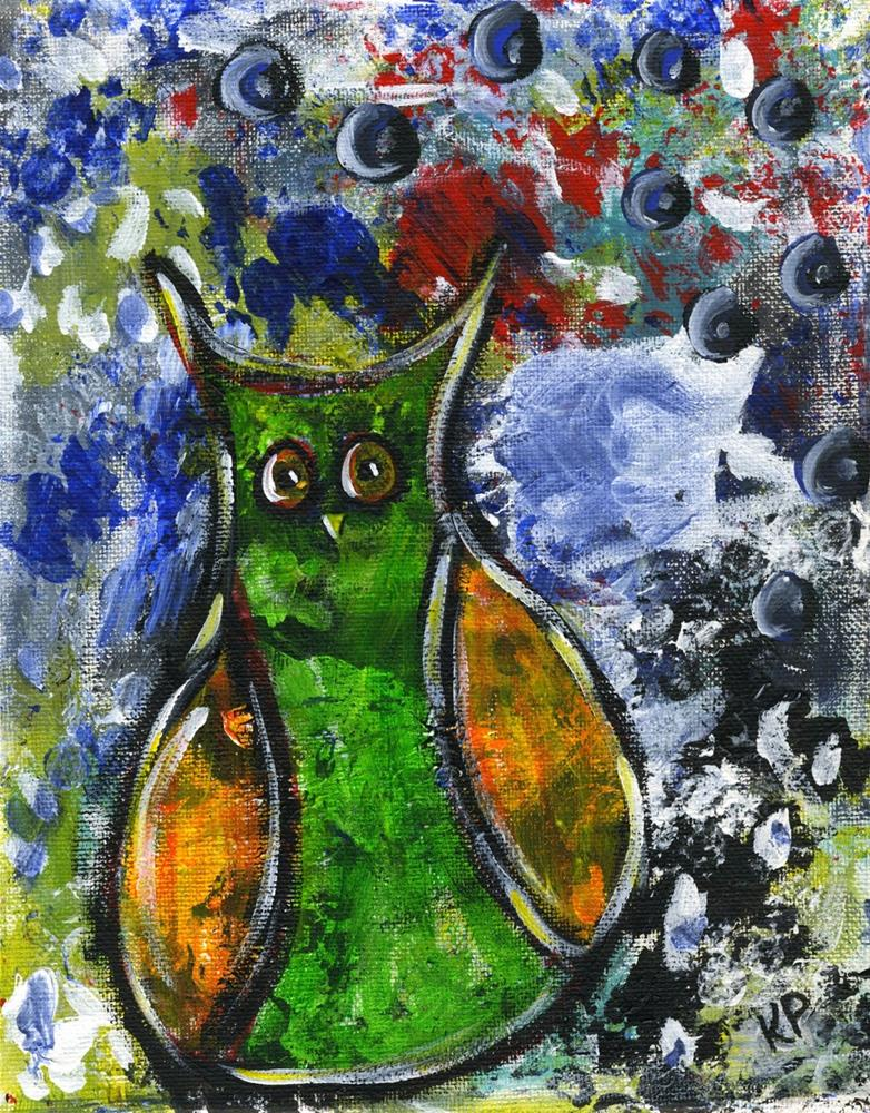 """It's Not Easy Being Green"" original fine art by Kali Parsons"