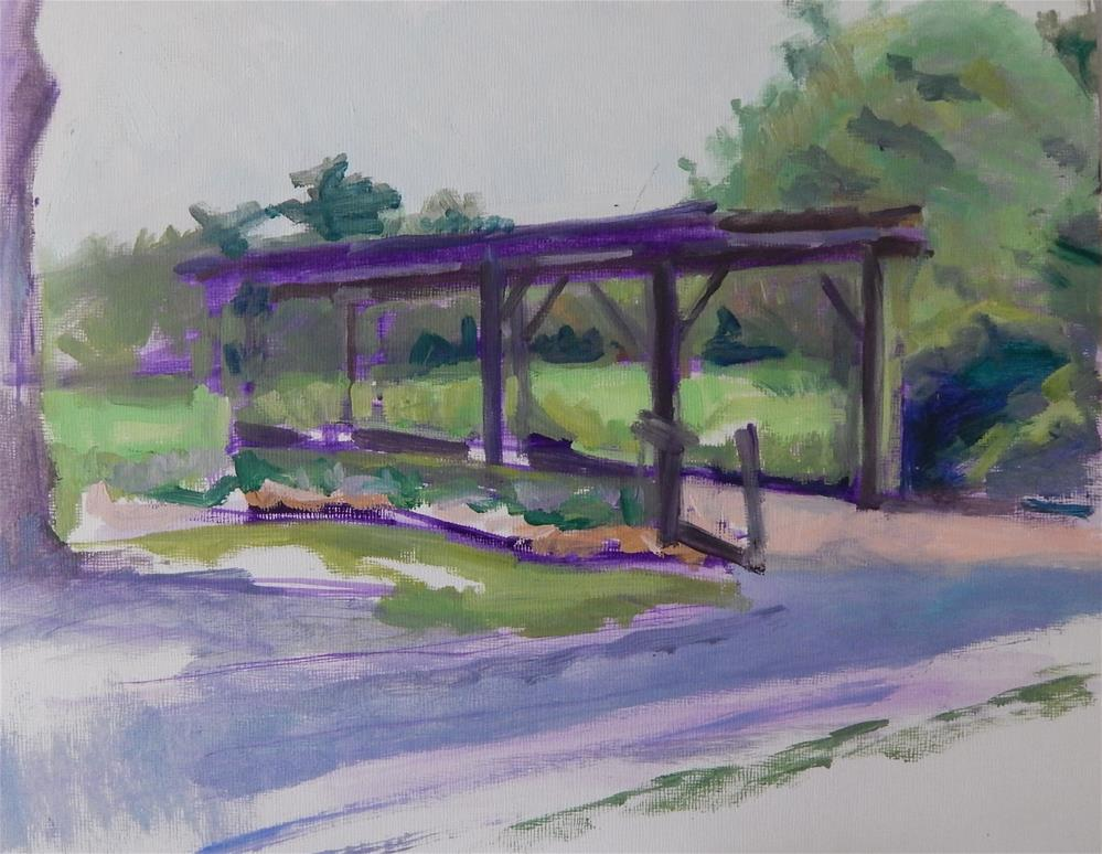 """Pergola - unfinished"" original fine art by Megan Schembre"