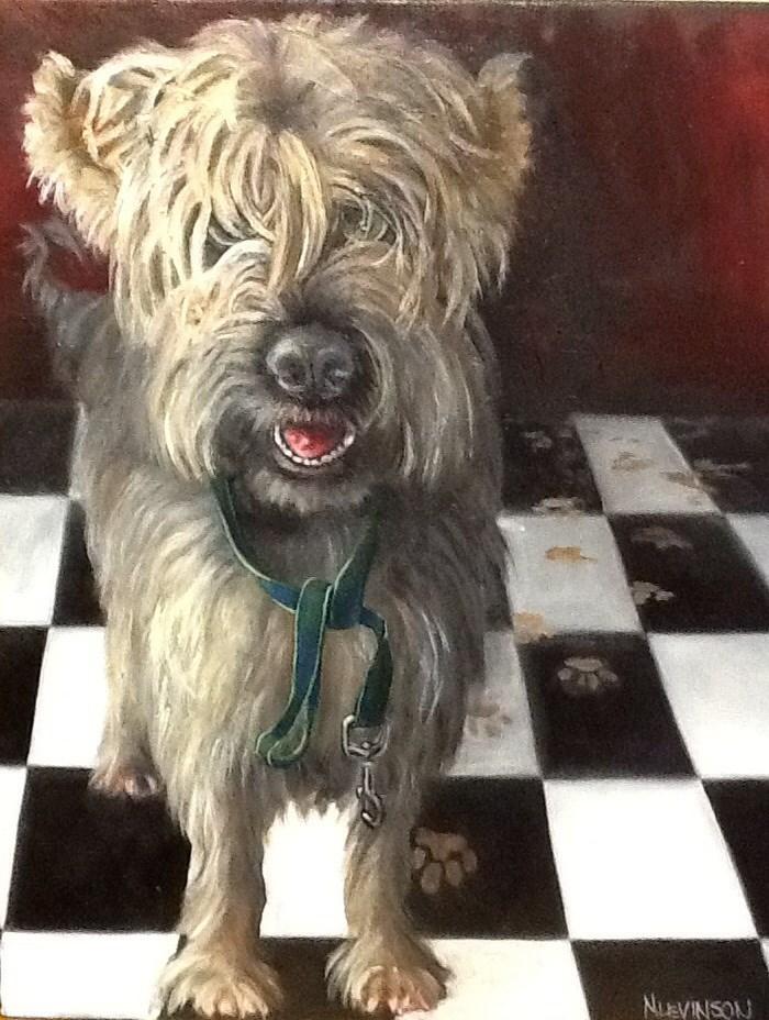 """Dirty Dog"" original fine art by Nancy Levinson"