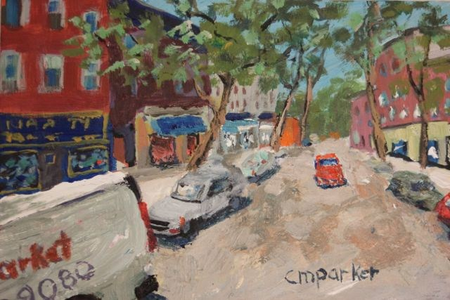 """Court Street, Brooklyn"" original fine art by Christine Parker"