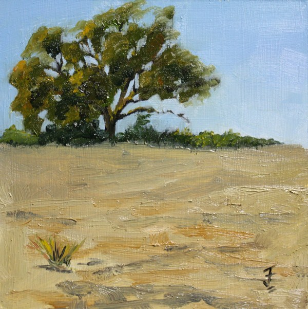 """""""Hill Country Drought"""" original fine art by Jane Frederick"""