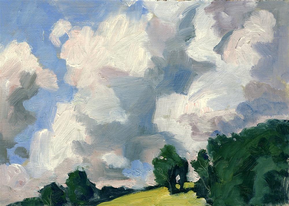 """Big Clouds, Berkshires Summer Sky"" original fine art by Thor Wickstrom"